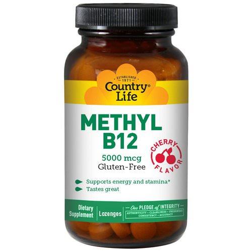 Country Life, Methyl B12, Cherry Flavor, 5000 mcg, 60 Lozenges Review