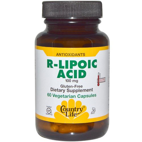 Country Life, R-Lipoic Acid, 100 mg, 60 Veggie Caps Review