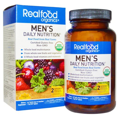 Country Life, Realfood Organics, Men's Daily Nutrition, 120 Tablets Review