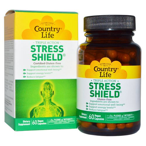 Country Life, Stress Shield, Triple Action, 60 Vegan Caps Review