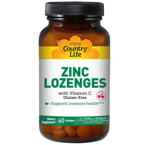 Country Life, Zinc Lozenges, with Vitamin C, Cherry Flavor, 60 Lozenges Review
