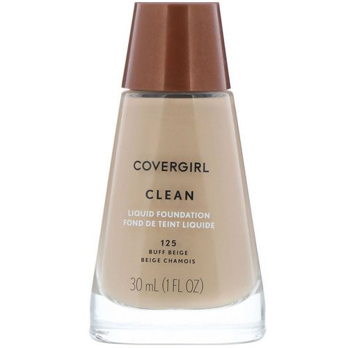 Covergirl, Clean, Liquid Foundation, 125 Buff Beige, 1 fl oz (30 ml) Review
