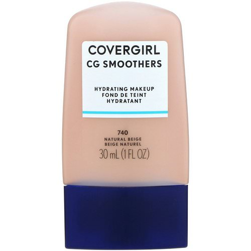 Covergirl, Smoothers, Hydrating Makeup, 740 Natural Beige, 1 fl oz (30 ml) Review