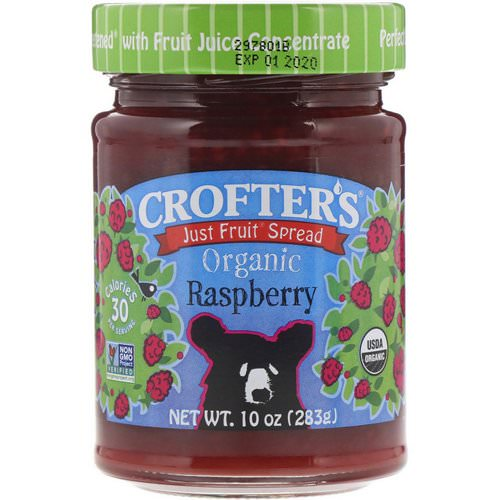 Crofter's Organic, Just Fruit Spread, Organic Raspberry, 10 oz (283 g) Review