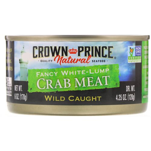 Crown Prince Natural, Fancy White-Lump Crab Meat, 6 oz (170 g) Review