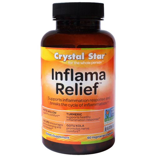 Crystal Star, Inflamma Relief, 60 Veggie Caps Review