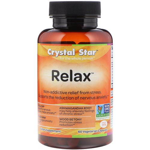 Crystal Star, Relax, 60 Vegetarian Capsules Review