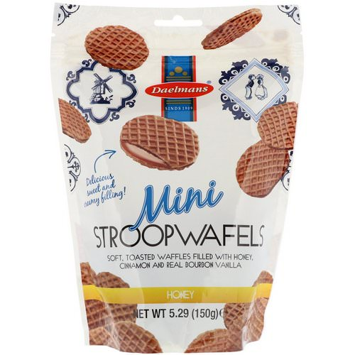 Daelmans, Mini Stroopwafels, Honey, 5.29 oz (150 g) Review