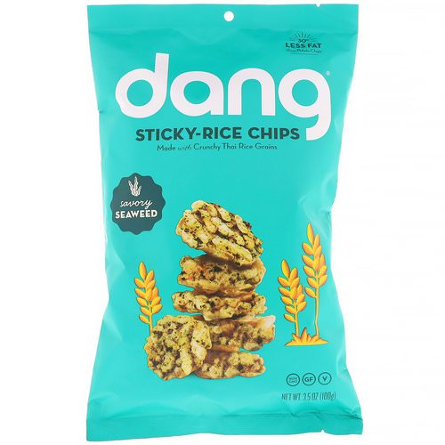 Dang, Sticky-Rice Chips, Savory Seaweed, 3.5 oz (100 g) Review