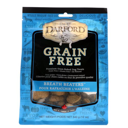 Darford, Grain Free, Premium Oven-Baked Dog Treats, Breath Beaters, 12 oz (340 g) Review