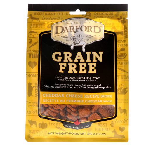 Darford, Grain Free, Premium Oven-Baked Dog Treats, Cheddar Cheese, Minis, 12 oz (340 g) Review