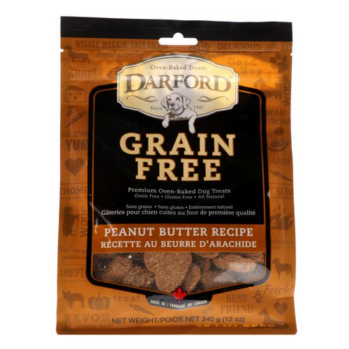 Darford, Grain Free, Premium Oven-Baked Dog Treats, Peanut Butter Recipe, 12 oz (340 g) Review