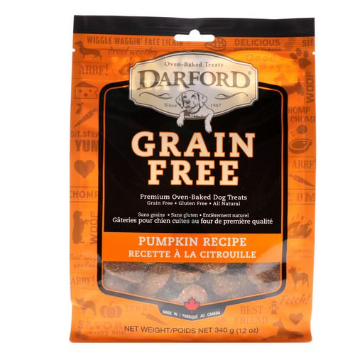 Darford, Grain Free, Premium Oven-Baked Dog Treats, Pumpkin Recipe, 12 oz (340 g) Review