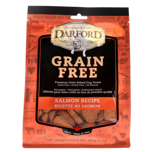 Darford, Grain Free, Premium Oven-Baked Dog Treats, Salmon Recipe, 12 oz (340 g) Review