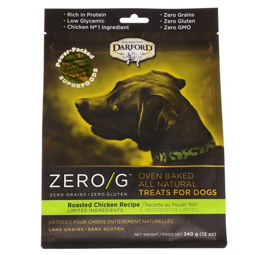 Darford, Zero/G, Oven Baked, All Natural, Treats For Dogs, Roasted Chicken Recipe, 12 oz (340 g) Review