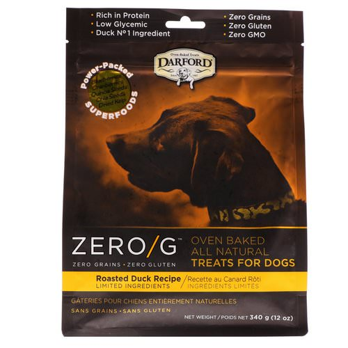 Darford, Zero/G, Oven Baked, All Natural, Treats For Dogs, Roasted Duck Recipe, 12 oz (340 g) Review