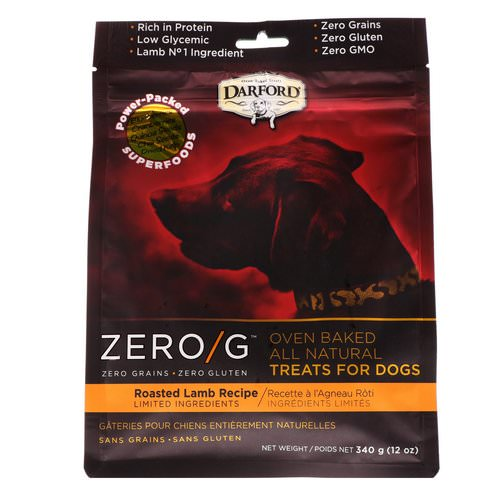 Darford, Zero/G, Oven Baked, All Natural, Treats For Dogs, Roasted Lamb Recipe, 12 oz (340 g) Review