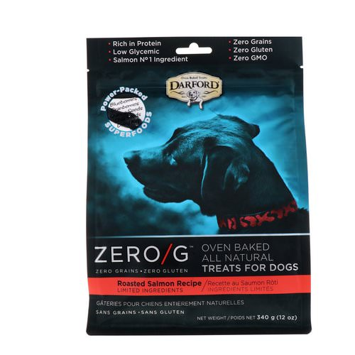 Darford, Zero/G, Oven Baked, All Natural, Treats For Dogs, Roasted Salmon Recipe, 12 oz (340 g) Review