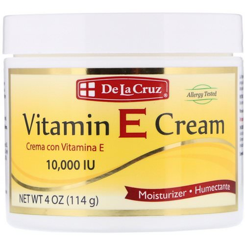 De La Cruz, Vitamin E Cream, 10,000 IU, 4 oz (114 g) Review