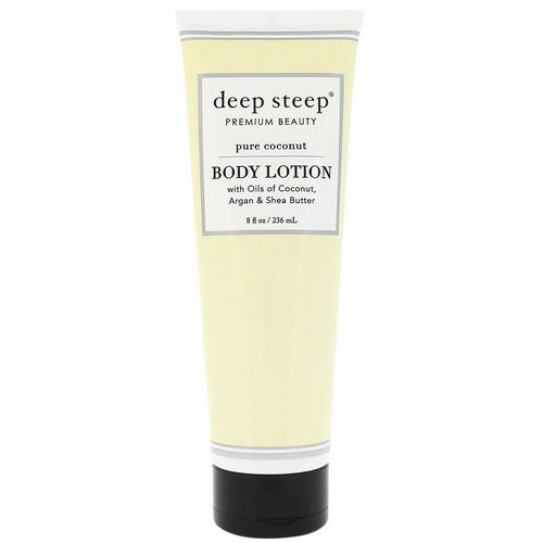 Deep Steep, Body Lotion, Pure Coconut, 8 fl oz (236 ml) Review