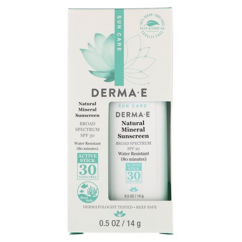 Derma E, Natural Mineral Sunscreen, SPF 30, Water Resistant, 0.5 oz (14 g) Review
