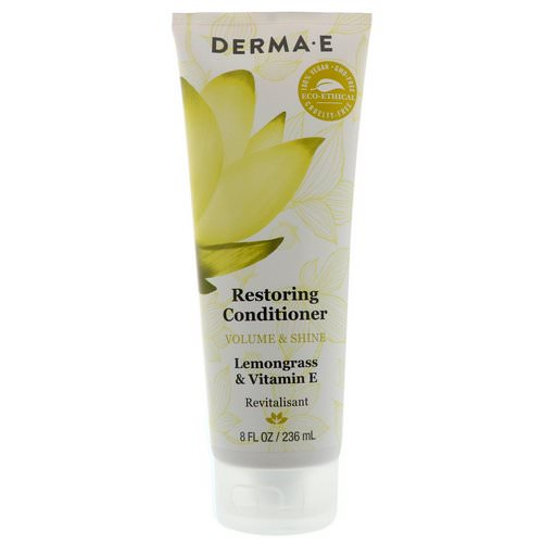 Derma E, Restoring Conditioner, Volume & Shine, Lemongrass & Vitamin E, 8 fl oz (236 ml) Review