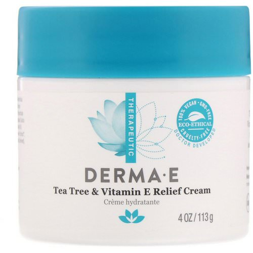 Derma E, Tea Tree & Vitamin E Relief Cream, 4 oz (113 g) Review
