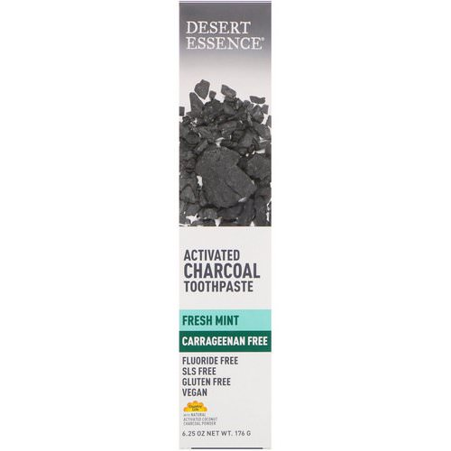 Desert Essence, Activated Charcoal Toothpaste, Fresh Mint, 6.25 oz (176 g) Review