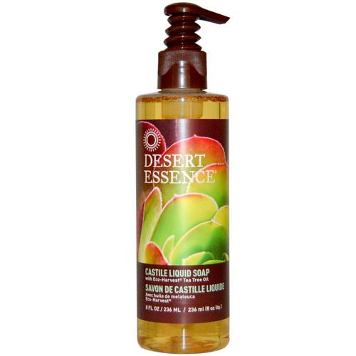 Desert Essence, Castile Liquid Soap, with Eco-Harvest Tea Tree Oil, 8 fl oz (236 ml) Review