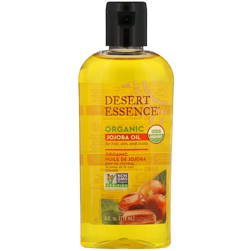 Desert Essence, Organic Jojoba Oil for Hair, Skin and Scalp, 4 fl oz (118 ml) Review