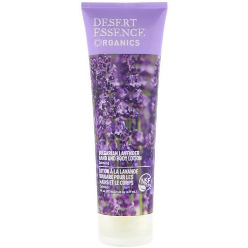 Desert Essence, Organics, Hand and Body Lotion, Bulgarian Lavender, 8 fl oz (237 ml) Review