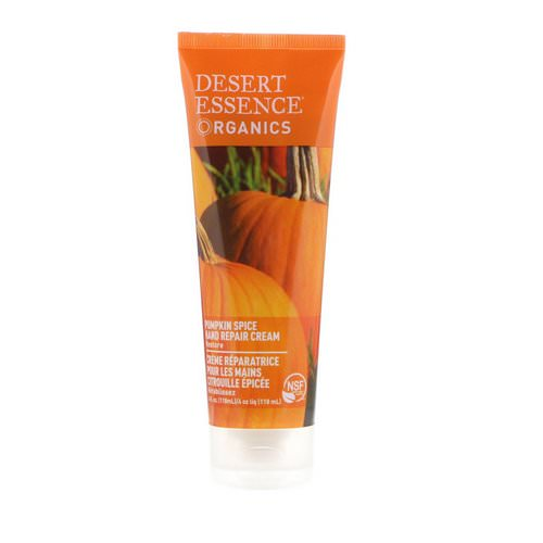 Desert Essence, Organics, Hand Repair Cream, Pumpkin Spice, 4 fl oz (118 ml) Review