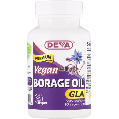 Deva, Vegan, Premium Borage Oil, GLA, 90 Vegan Caps Review