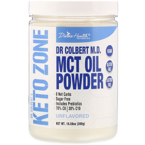 Divine Health, Dr. Colbert's Keto Zone, MCT Oil Powder, Unflavored, 10.58 oz (300 g) Review