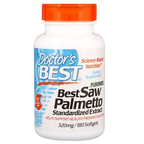 Doctor's Best, Euromed, Best Saw Palmetto, Standardized Extract, 320 mg, 180 Softgels Review