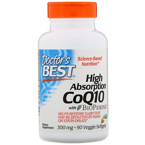 Doctor's Best, High Absorption CoQ10 with BioPerine, 300 mg, 90 Veggie Softgels Review