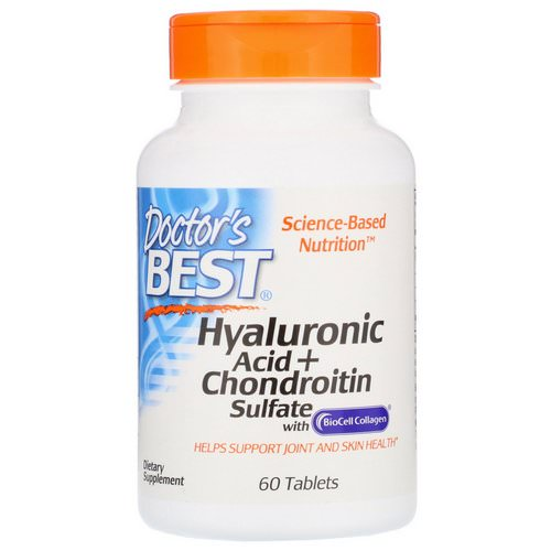 Doctor's Best, Hyaluronic Acid + Chondroitin Sulfate with BioCell Collagen, 60 Tablets Review
