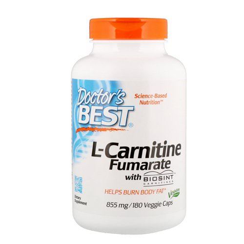Doctor's Best, L-Carnitine Fumarate with Biosint Carnitines, 855 mg, 180 Veggie Caps Review