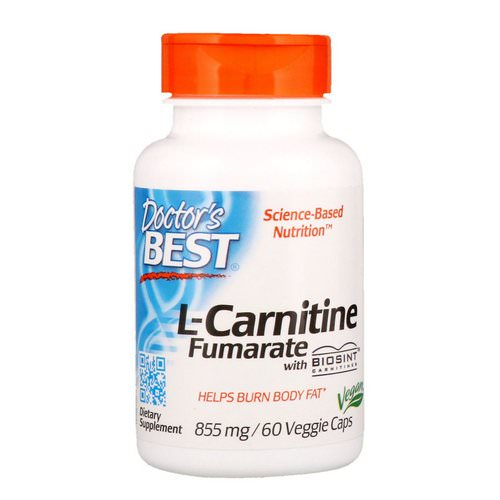 Doctor's Best, L-Carnitine Fumarate with Biosint Carnitines, 855 mg, 60 Veggie Caps Review