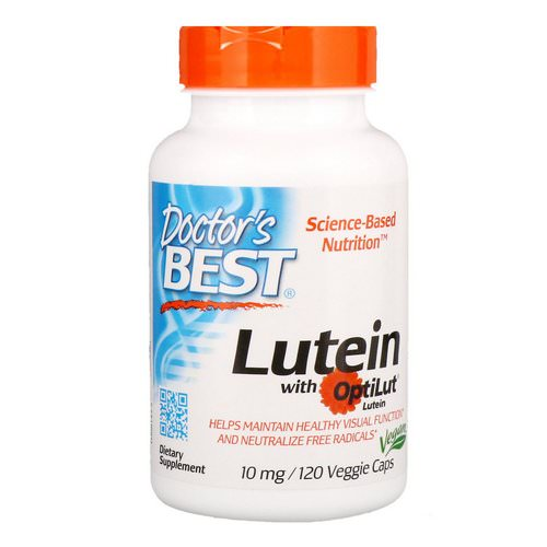 Doctor's Best, Lutein with OptiLut, 10 mg, 120 Veggie Caps Review