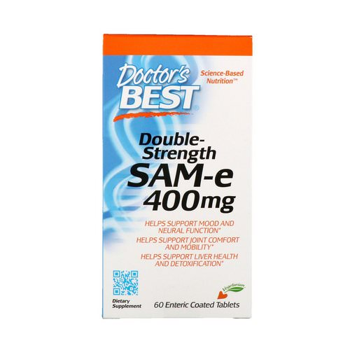 Doctor's Best, SAM-e, Double-Strength, 400 mg, 60 Enteric Coated Tablets Review