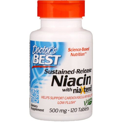 Doctor's Best, Sustained-Release Niacin with niaXtend, 500 mg, 120 Tablets Review