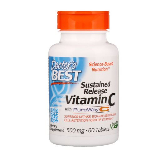 Doctor's Best, Sustained Release Vitamin C with PureWay-C, 500 mg, 60 Tablets Review