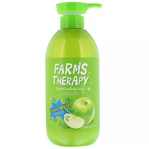 Doori Cosmetics, Farms Therapy, Sparkling Body Wash, Green Apple, 23.6 fl oz (700 ml) Review