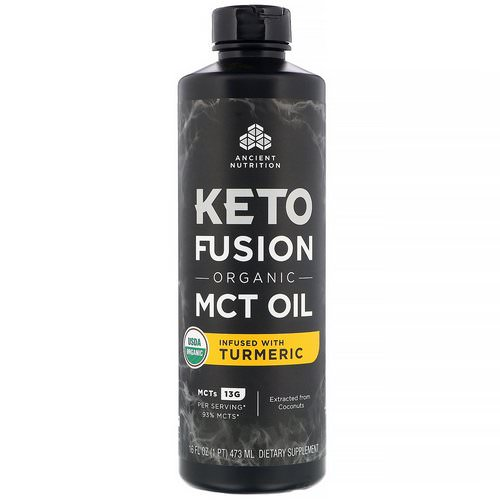 Dr. Axe / Ancient Nutrition, Keto Fusion Organic MCT Oil, Infused with Turmeric, 16 fl oz (473 ml) Review