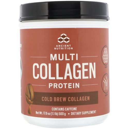 Dr. Axe / Ancient Nutrition, Multi Collagen Protein, Cold Brew Collagen, 1.1 lbs (500 g) Review