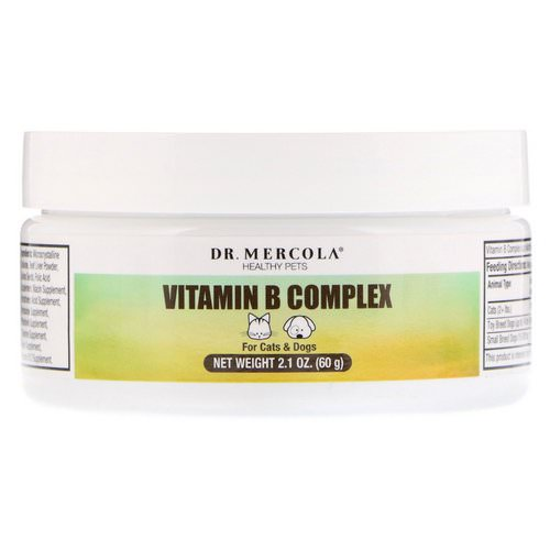 Dr. Mercola, Healthy Pets, Vitamin B Complex, For Cats & Dogs, 2.1 oz (60 g) Review