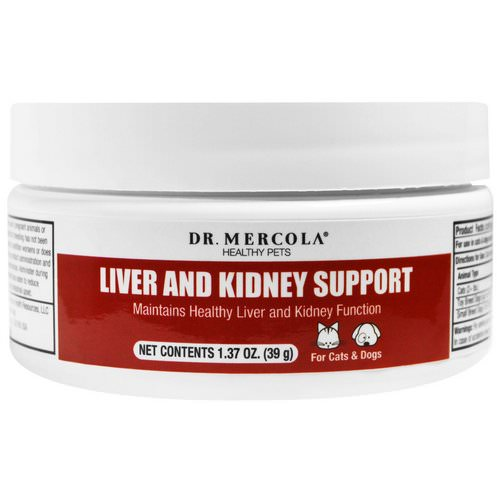Dr. Mercola, Liver and Kidney Support for Pets, 1.37 oz (39 g) Review