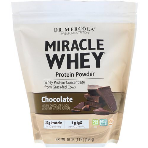 Dr. Mercola, Miracle Whey, Protein Powder, Chocolate, 1 lb (454 g) Review