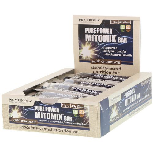 Dr. Mercola, Pure Power Mitomix Bar, Double Chocolate, 12 Bars, 1.41 oz (40 g) Each Review